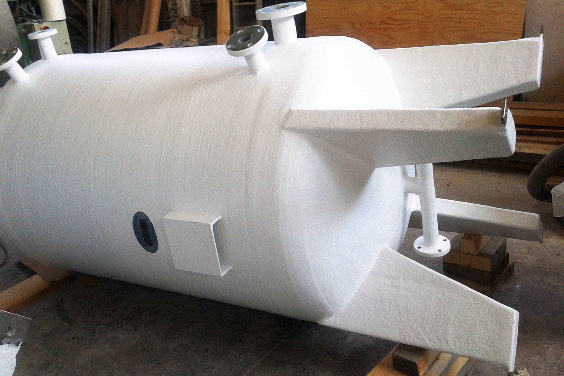 Cylindrical Fiberglass Tanks Vetroresina Senio